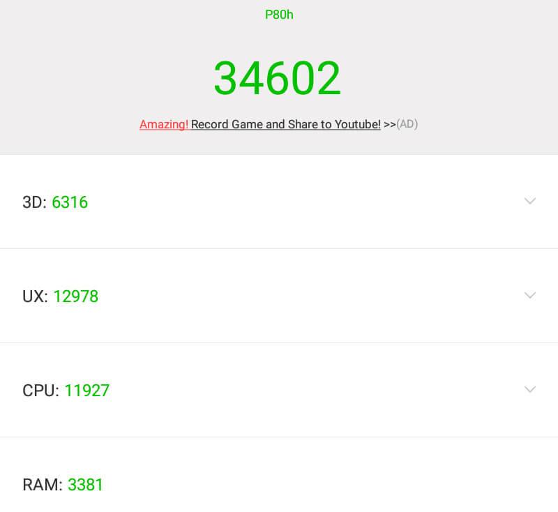 AnTuTu тест в планшете Teclast P80H