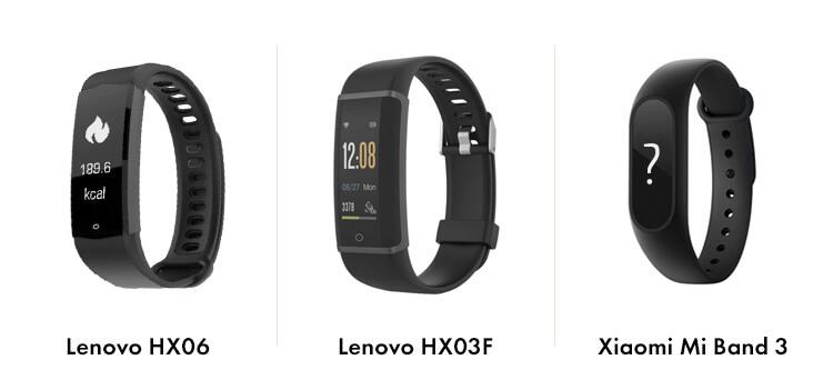 Xiaomi Mi Band 3 vs Lenovo HX03F