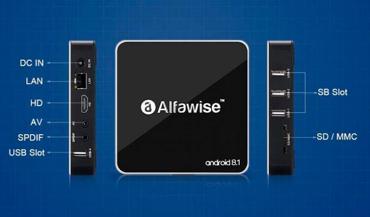 Интерфейсы Alfawise A8