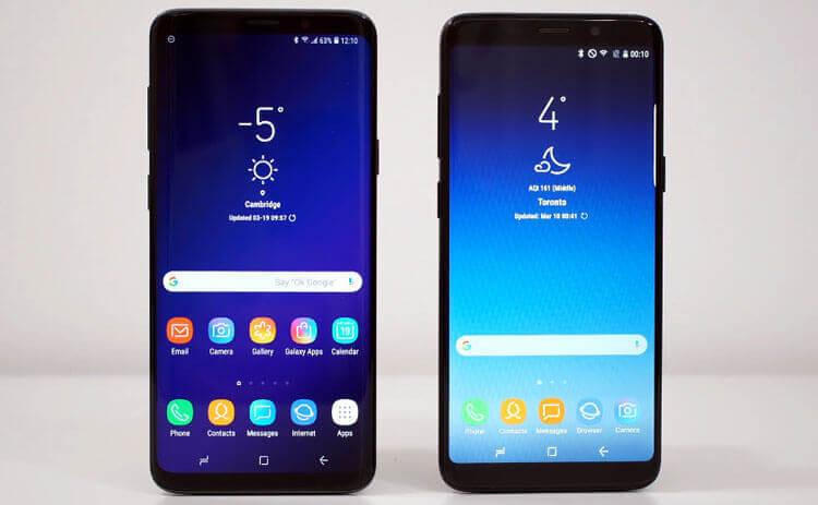 Оригинальный и поддельный Samsung Galaxy S9