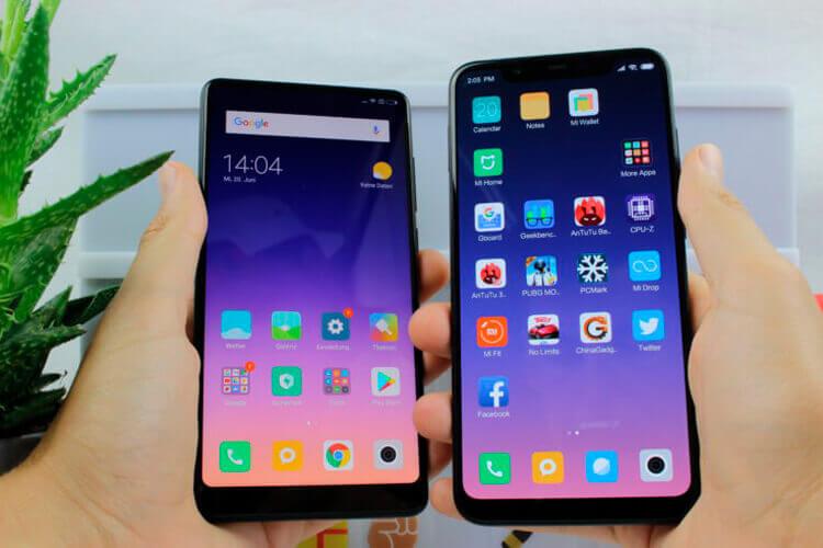 Сравнение Xiaomi Mi 8 и Mix 2S