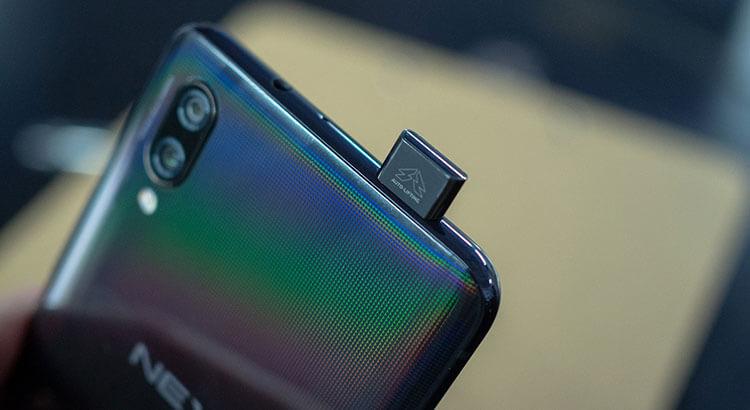 Выезжающая камера телефона vivo nex