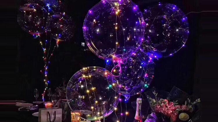 Светящиеся шары с наружной подсветкой