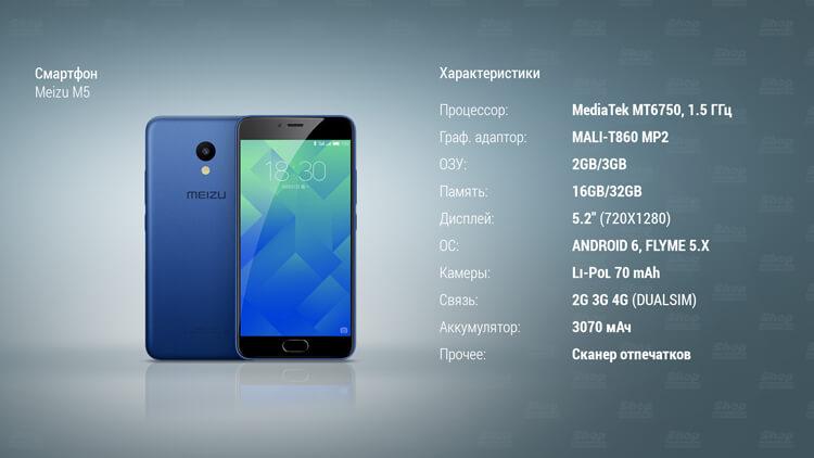 Характеристики Meizu M5