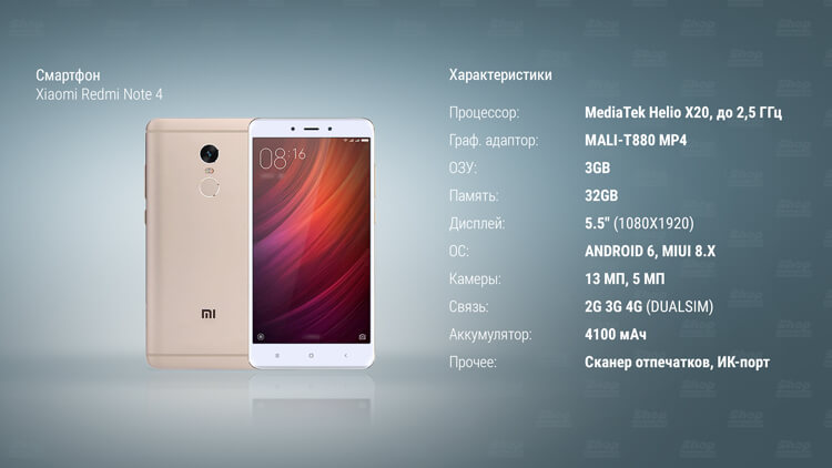 Xiaomi Redmi Note 4 характеристики