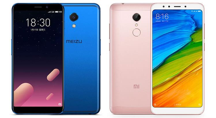 Xiaomi Redmi 5 и Meizu M6S