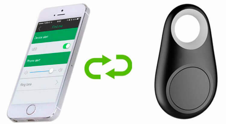 Брелок-трекер и смартфон