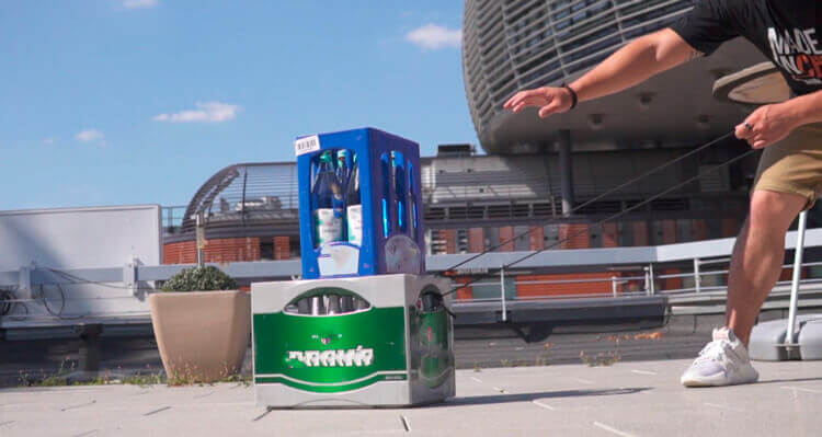 Syncwire краш-тест с ящиком пива