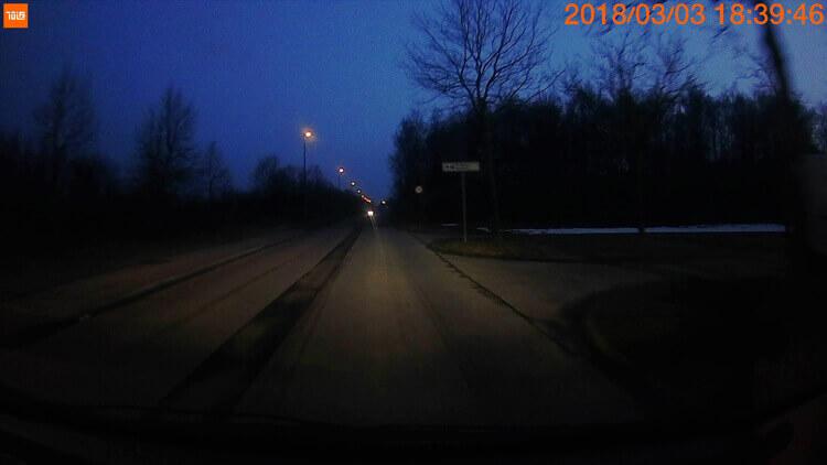 Пример фотографии ночью