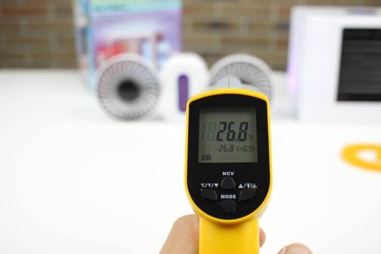 Тест температуры с обычным вентилятором