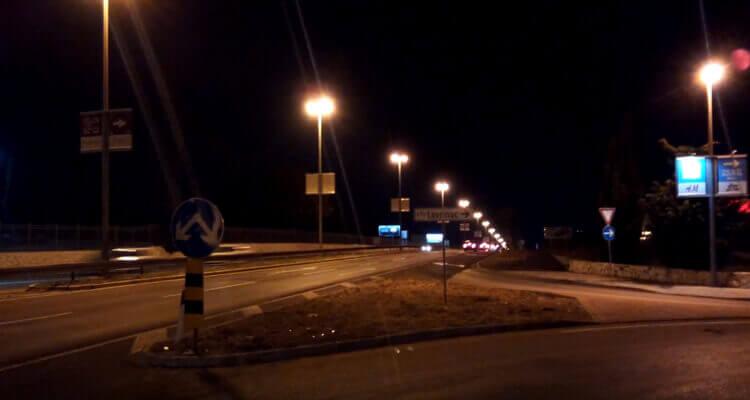 Снимок ночью