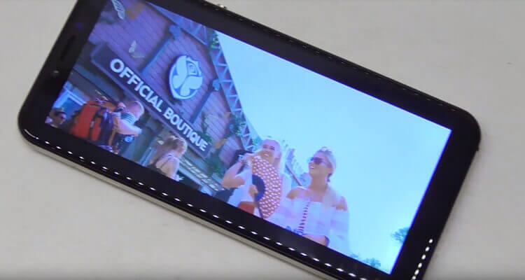 Масштабирование видео Elephone A4