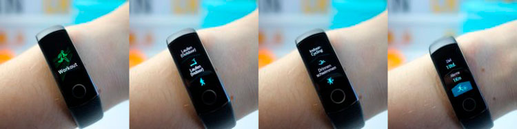 Режимы Honor Band 4