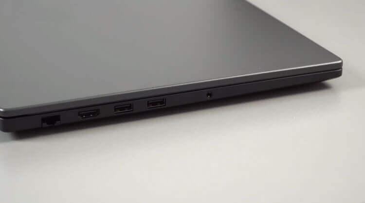 Xiaomi Mi Notebook Ruby: вид слева