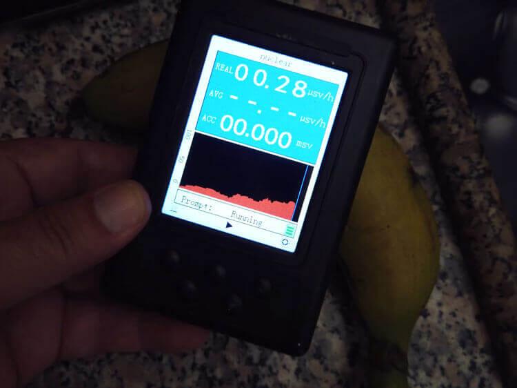 Радиактивный фот от банана на BR-9B