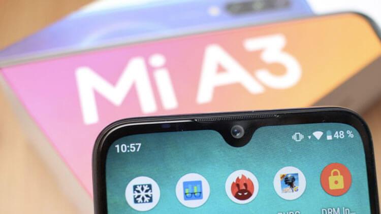 Xiaomi Mi A3 и вырез в дисплее