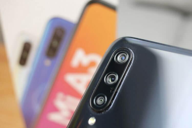 Xiaomi Mi A3 тройная камера