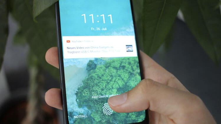 Xiaomi Mi A3 сканер отпечатков