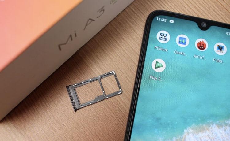 Xiaomi Mi A3 и лоток для сим