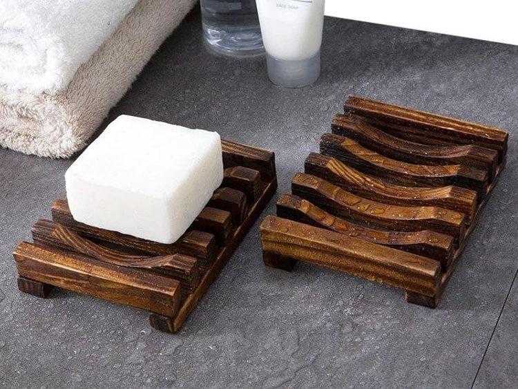 Деревянная подставка для мыла