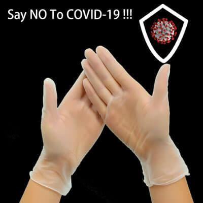 Прозрачные защитные перчатки