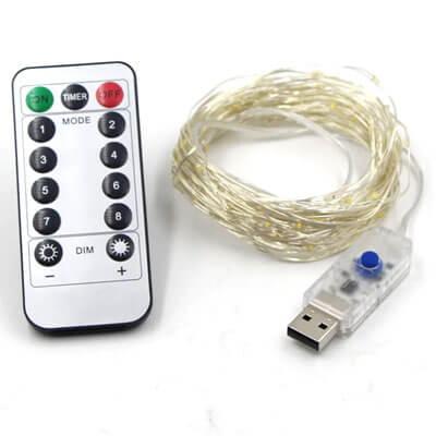 Купить USB гирлянду с пультом 285
