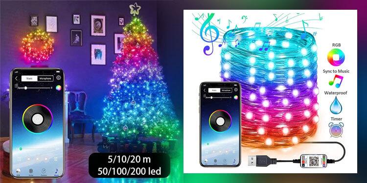 RGB гирлянда с управлением через телефон